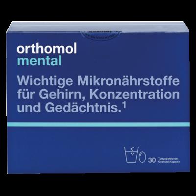Orthomol Mental – активизация мозговой деятельности и ЦНС