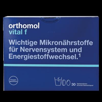 Orthomol Vital F (гранулы - апельсин) – рекомендован при хронической усталости и эмоциональном выгорании